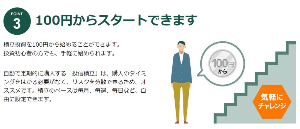 投信工房の100円スタート