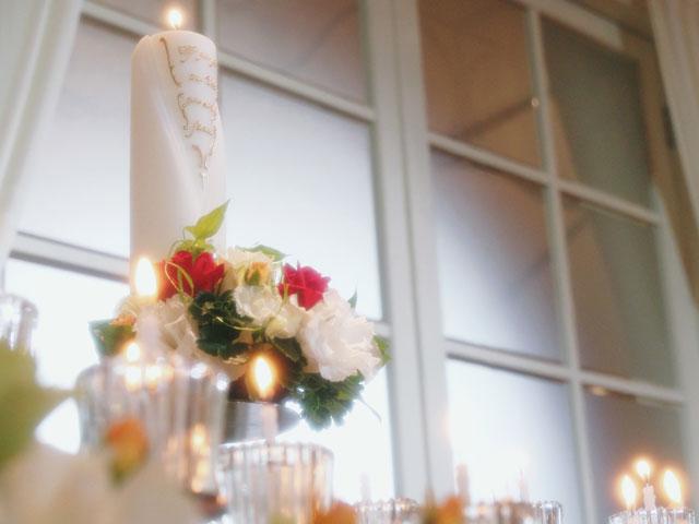 結婚式のメインキャンドル