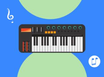 作曲に使うキーボード