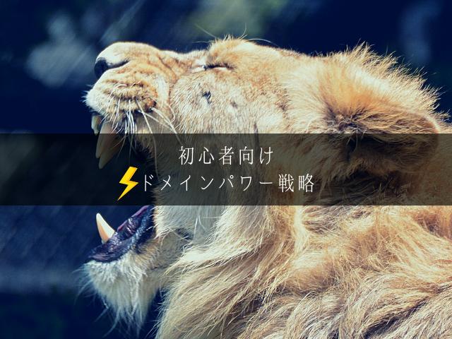 ドメインパワーの強い動物園のライオン
