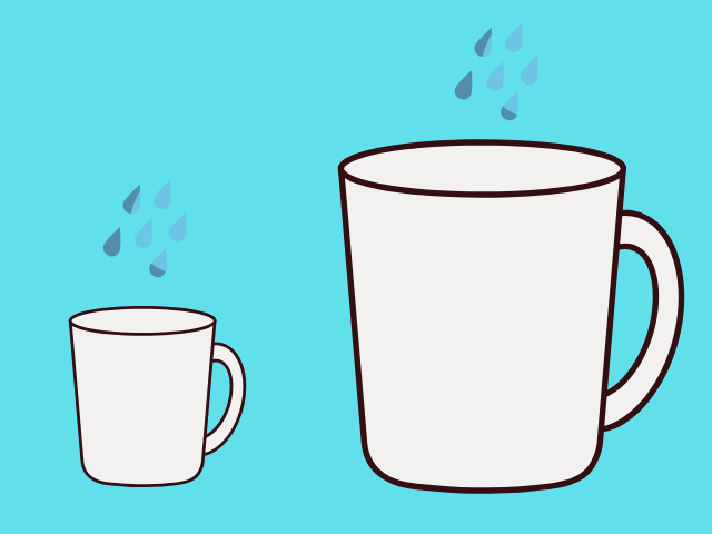 ストレスの耐えられる量についての図解