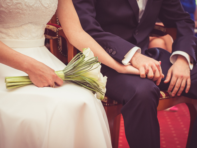 念願の結婚式を挙げた二人