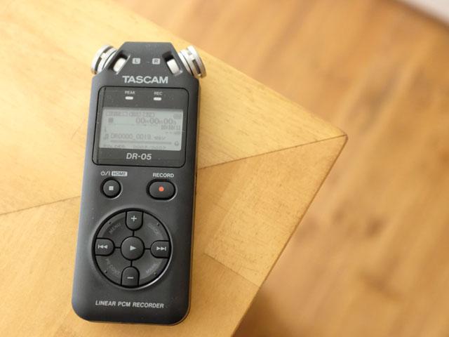新しい仕事に使う録音レコーダーDR-05