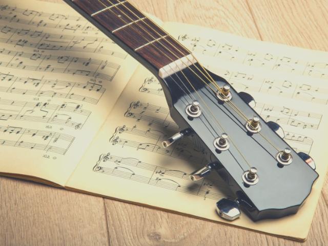 ギターと譜面