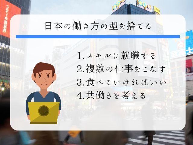 日本の働き方の型を捨てる方法