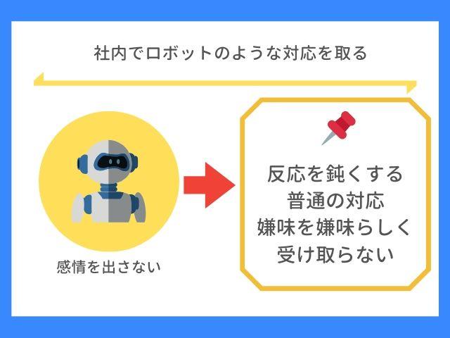 社内でロボットのような対応を取る
