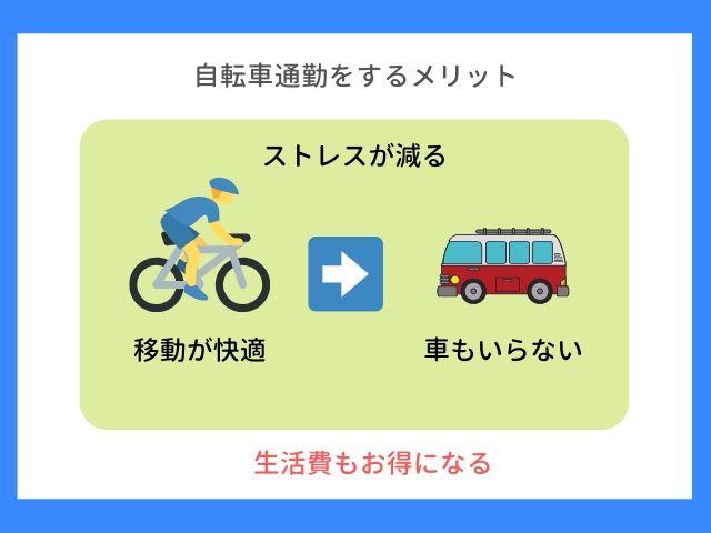 自転車通勤をするメリット