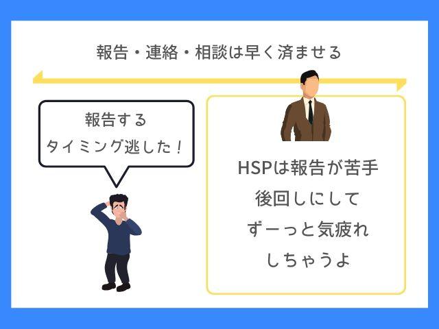 HSPは勢いで報告しよう